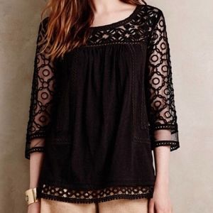 anthropologie | meadow rue mantra lace top blouse